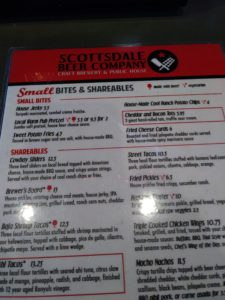 SBC Food Menu
