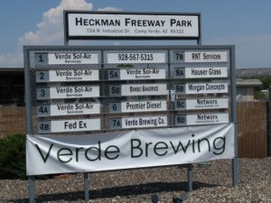 VERDE Brewing Industrial Dr Sign